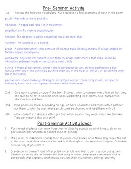 SHEL SILVERSTEIN'S NOISE DAY POEM SOCRATIC SEMINAR + ACTIVITY- SCIENCE OF SOUND