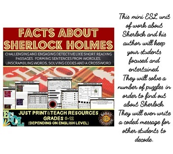 SHERLOCK HOLMES (ESL): MINI BUNDLE (game + unit of work with reading passages)