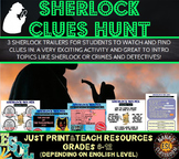 Detective Sherlock Holmes clue hunt game for ESL/ELL fun and challenging intro