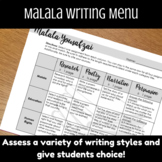 SHEroes - Writing Menu - Malala
