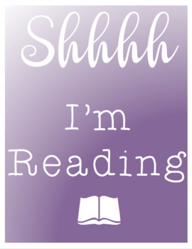 SHHH I'm Reading Posters
