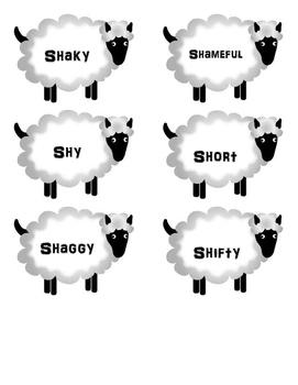 SHHH Sheep - Initial SH Articulation Practice