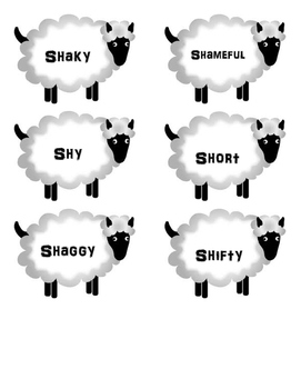 SHHH Sheep - Initial SH Articulation Practice