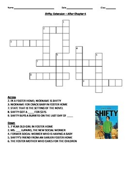 SHIFTY - NOVEL EXTENSION ACTIVITY WORKSHEETS