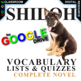 SHILOH Vocabulary List and Quiz (Digital Distance Learning)