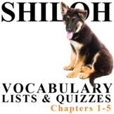 SHILOH Vocabulary List and Quiz (chapters 1-5)
