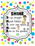 SHINE Classroom Management Poster