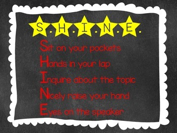 SHINE Classroom Management Poster