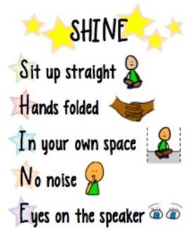 SHINE Classroom Management Poster (color)