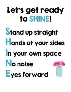SHINE Poster - Shabby Chic Theme