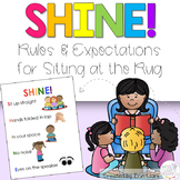 SHINE! Rug Rules & Expectations Poster