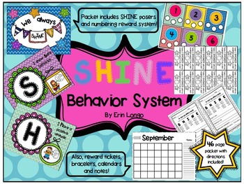SHINE behavior management system packet