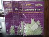 SHINING STARS   WAY TO GLOW IN THE DARK  (SET OF 4)
