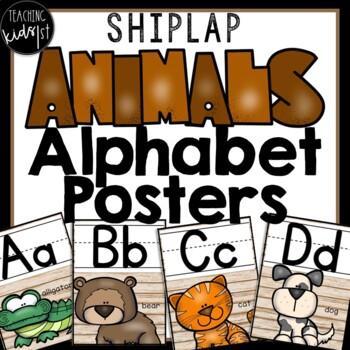 SHIPLAP ANIMALS ALPHABET POSTERS