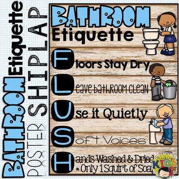 SHIPLAP BATHROOM ETIQUETTE POSTER
