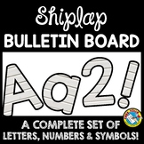 SHIPLAP CLASSROOM DECOR BULLETIN BOARD LETTERS PRINTABLE, NUMBERS, ETC