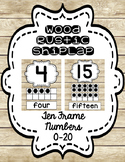 SHIPLAP Rustic Wood Ten Frames Numbers 0-20