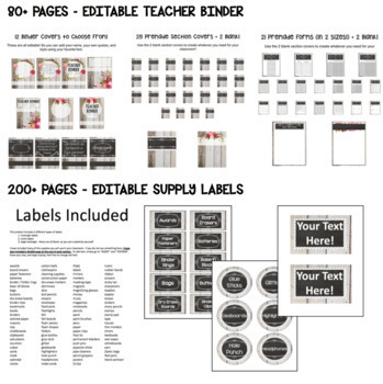 SHIPLAP SHABBY CHIC - Classroom Decor Bundle Featuring 800+ pages! Editable!