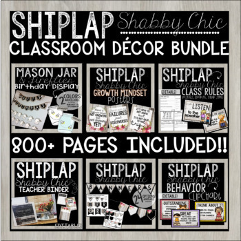 FARMHOUSE SHIPLAP SHABBY CHIC - Decor Bundle Featuring 800+ pages! Editable!
