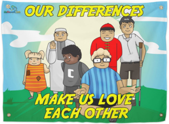 Our Differences Make Us Love Each Other 2-Tapestry SHIPPED to school-Hard Good