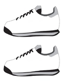 SHOE TEMPLATE, SHOE CLIPART, BLANK SHOE TEMPLATE, RUNNING SHOES
