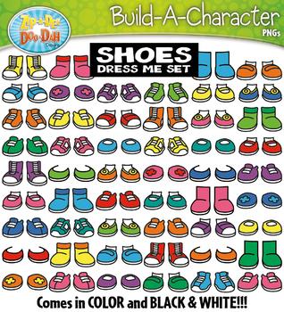 SHOES Build A Kid Character Clipart {Zip-A-Dee-Doo-Dah Designs}
