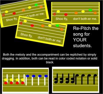 SHOO FLY - Game Song- Smart Notebook - Instrumental accompaniment parts