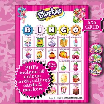 SHOPKINS 5x5 Bingo