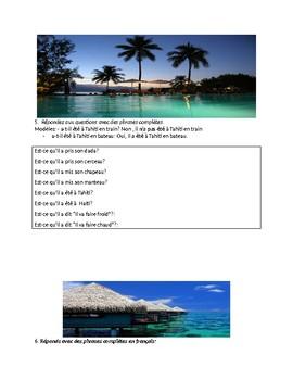 CHANSON AU PASSE COMPOSE : TAHITI