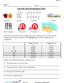 SHOPPING VERBS (FRENCH)