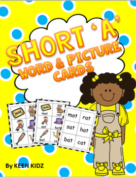 SHORT A WORD AND PICTURE CARDS