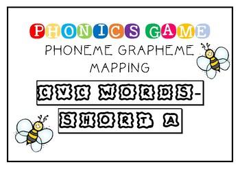 SHORT A - CVC/CCVC PHONEME GRAPHEME MAPPING GAME
