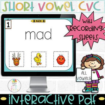 SHORT A CVC WORD Digital Computer Game