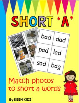 SHORT A MATCH PHOTOS TO WORDS