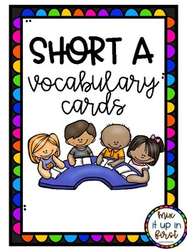 SHORT A VOCABULARY CARDS