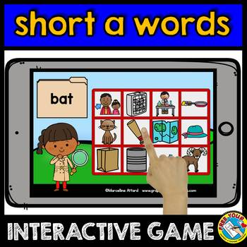 SHORT A WORD WORK (BOOM CARDS READING CVC WORDS DIGITAL GAME) KINDERGARTEN