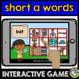 SHORT A WORD WORK (BOOM CARDS READING CVC WORDS DIGITAL GAME) KINDERGARTEN