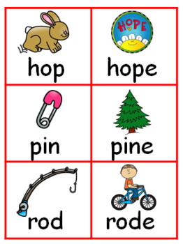 SHORT AND LONG VOWEL CARDS WITH MAGIC E