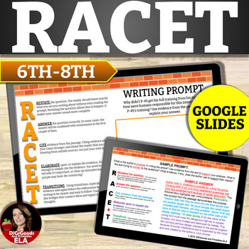 Reading Constructed Response Activities With  Passages: Race Strategy