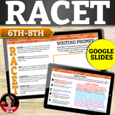Reading Constructed Response Practice: RACE STRATEGY with Passage