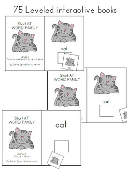 SHORT CVC WORD FAMILY BUNDLE FOR AUTISM AND SPECIAL EDUCATION