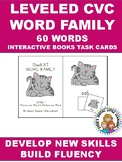 LEVELED CVC WORD FAMILY ADATED BOOKDS AND TASK CARDS FOR AUTISM AND SPECIAL ED
