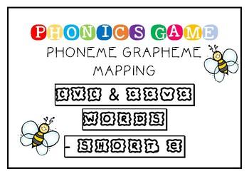 SHORT E - CVC/CCVC PHONEME GRAPHEME MAPPING GAME