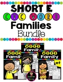 SHORT E CVC WORD FAMILIES WORKSHEETS