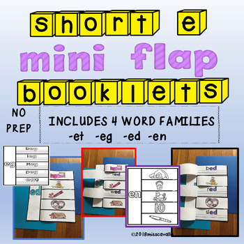 INTERACTIVE SHORT E WORD FAMILY BOOKS
