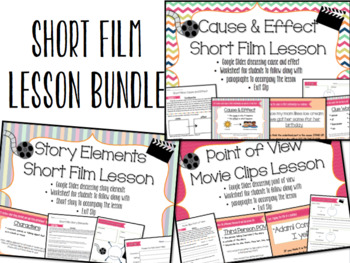 SHORT FILM BUNDLE! - THREE FUN end of year reading lessons