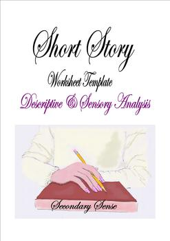 SHORT STORY Descriptive & Sensory Worksheet Template