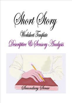 SHORT STORY Descriptive & Sensory Worksheet Template