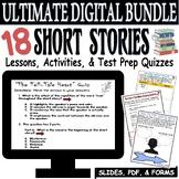 SHORT STORY LESSON BUNDLE: Common Core ELA Test Prep Quizz