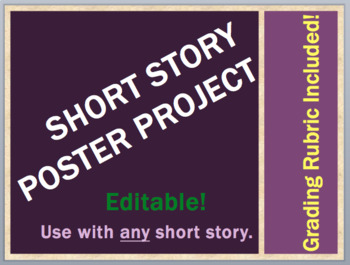 SHORT STORY POSTER Project & Grading Rubric (for any ELA short story!)